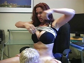 heavy chested momma with glasses acquires her wet