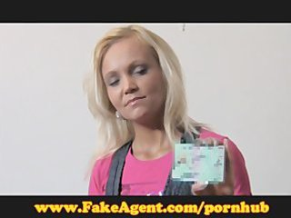 fakeagent older golden-haired does anal in