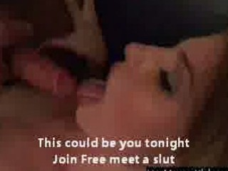 sexy golden-haired bitch wife sucks large jock