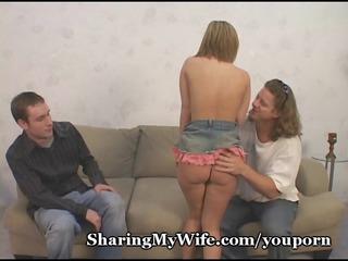 nervous hubby shares diminutive wife