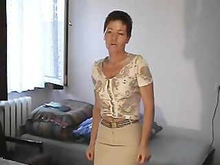 older honey with her fake penis