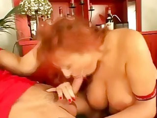 breasty mommy takes on youthful boys and gives