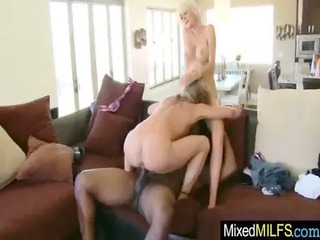 breasty milf acquire drilled hard by black cock