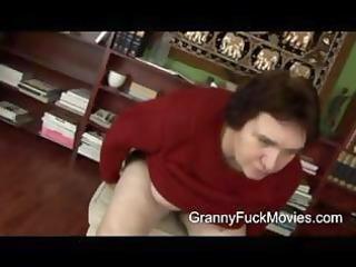 unsightly bulky granny engulfing on new jock