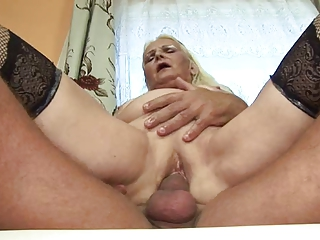 chunky blond granny (german)