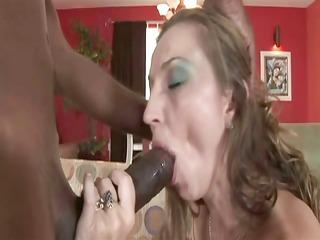 brunette milf having interracial sex