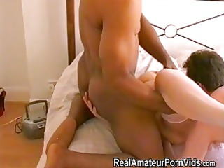 blond older housewife takes anal