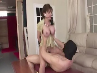 aged slut in nylons acquires wild schlong thrown