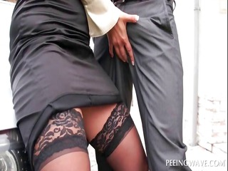 outdoor blowjob with bitchy playgirl