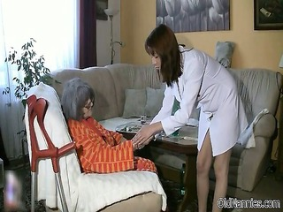 busty old woman acquires her body rubbed