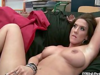brunette hair mother i receives drilled hard by a