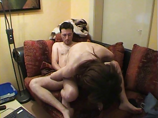 making anal love to his wife for mutual orgasm