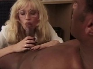 blond milf audition for him room... and his bbc