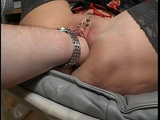 granny whore acquires fisted and toy fucked!