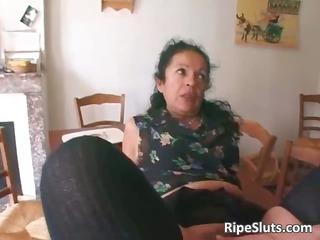 horny older slut double screwed as one