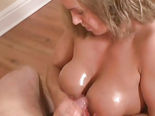 titfuck cook jerking golden-haired older