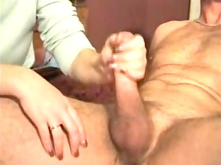 private porn with a pretty wife doing great tugjob