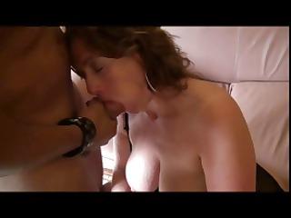busty brunette hair manuela gobbles a cock,