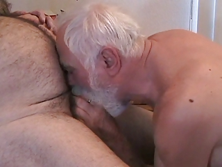 two older guys getting off