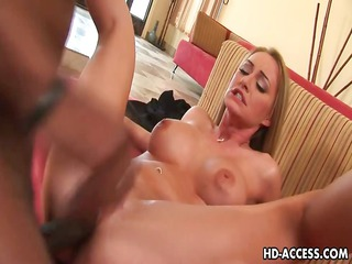 hot golden-haired aline interracial sex