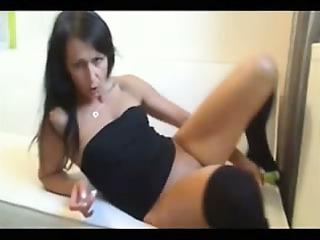 poking a bottle in my pussy
