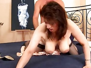 horny aged honey in nylons drilled