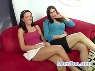 sexy mom and slutty daughter go to a porn casting
