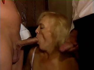german old mature double penetration