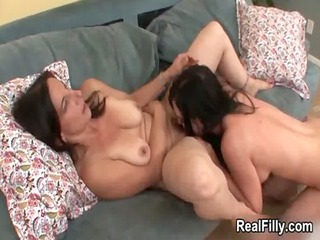 horny aged lesbo receives her curly