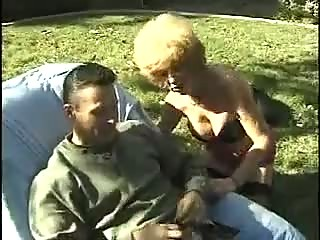 lewd aged granny fucking outdoors