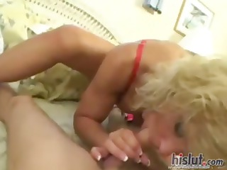 breasty aged blonde tj powers gives his pov dong