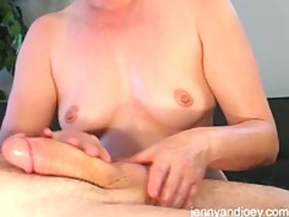 pleased ending cock massage