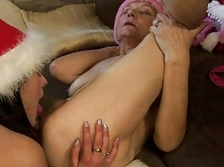 drunk granny enjoys sex with pretty legal age