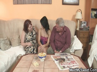nasty girl fucking with her bfs old parents