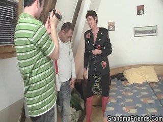 granny takes 3 ramrods after photosession