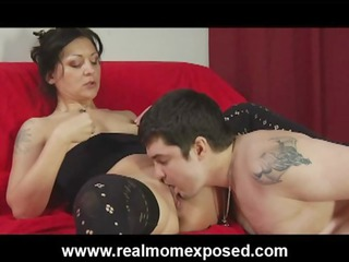 kinky tattooed wife coarse drilled on the bed