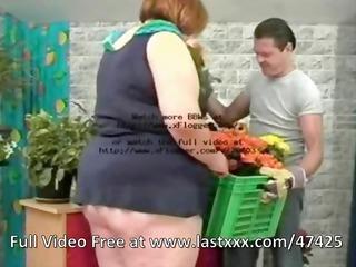fat unattractive redhead sucks the florists rod