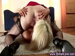 two glamorous mature lesbian babes take up with