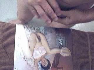 lusty spunk flow over aged asian picture