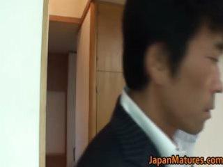 horny japanese older sweethearts engulfing