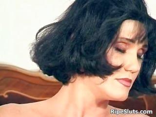 gorgeous older brunette hair fuck her wet part8