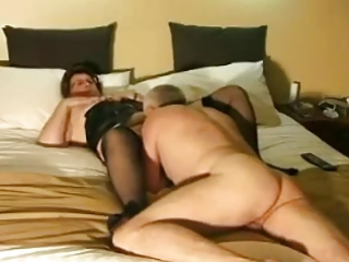 granny dressing &; pleasure with hubby by
