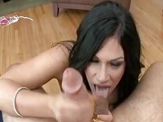 slim balls licking dark brown mother i with