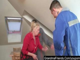 fixing the machine, fucking the granny