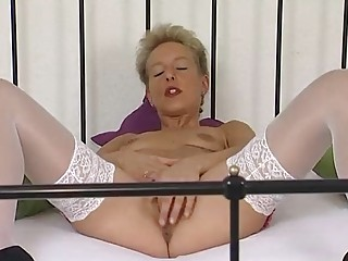 aged german golden-haired masturbating
