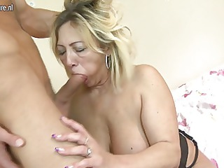 aged mommy acquires drilled by her toyboy
