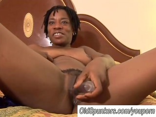 hawt black milf has a soaked love tunnel