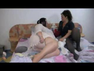 bulky aged lesbians acquire together for