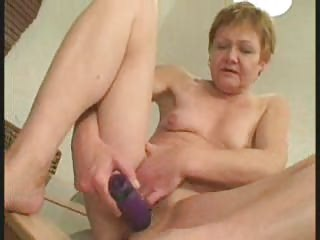 tiny titted granny cleans up