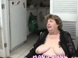 lustful grandma engulfing stiff white knob